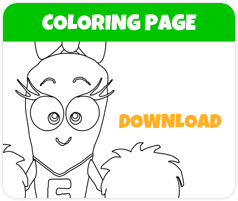 Carin carrot coloring page image