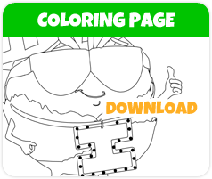Ice Berg lettuce coloring page image