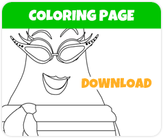 Jaune Pear coloring page image