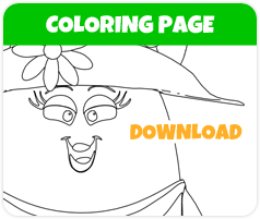 Melonie watermelon coloring page image